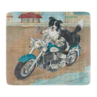 Dog on Motorcycle Cutting Board