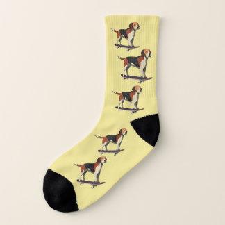 Dog on Skateboard,Men's Small Socks