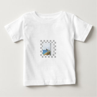 Dog On Steamship/ Checked Background Baby T-Shirt