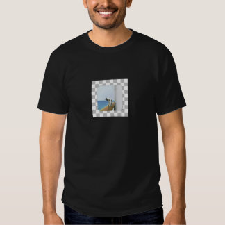 Dog On Steamship/ Checked Background Tshirt
