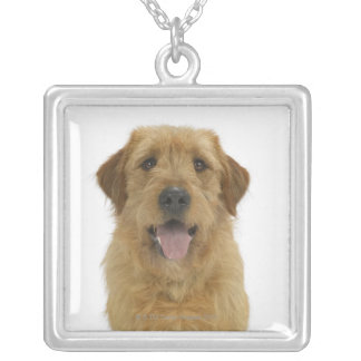 Dog on White 44 Silver Plated Necklace