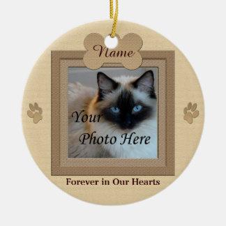 Dog or Cat Memorial Custom Beige Ceramic Ornament