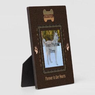 Dog or Cat Memorial Elegant Brown Plaque