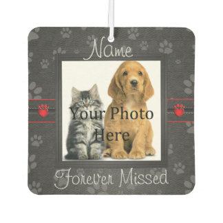 Dog or Cat Paw Prints Pet Memorial to Personalise Car Air Freshener