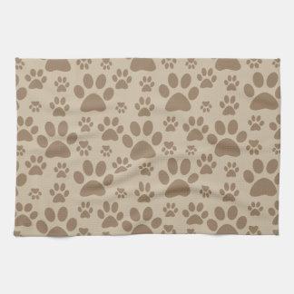 Dog or Cat Paw Prints Tea Towel