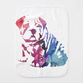 Dog paint burp cloth
