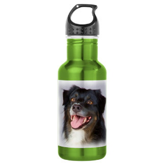 Dog painting - dog art - pet art 532 ml water bottle