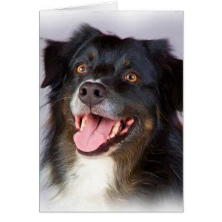 Dog painting - dog art - pet art card