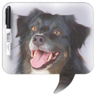 Dog painting - dog art - pet art dry erase board