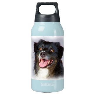Dog painting - dog art - pet art insulated water bottle