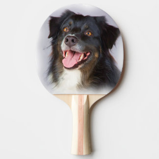 Dog painting - dog art - pet art ping pong paddle