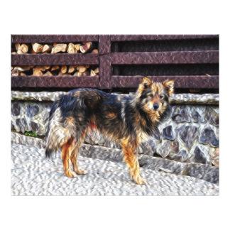 Dog painting flyer design