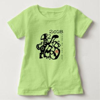 Dog Papercut Chinese New Year 2018 Baby G Romper Baby Bodysuit