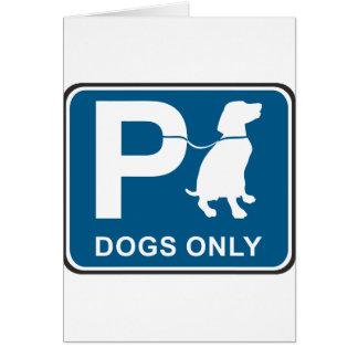 Dog Parking Sign Card