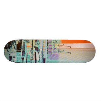 Dog patching Panorama in San francisco city Skate Decks