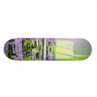 Dog patching Panorama in San francisco city Skate Deck