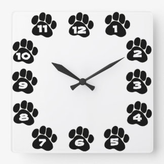 Dog Paw Clock