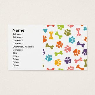 Dog Paw Cool Cute Girly Animal Fashion Pattern Business Card