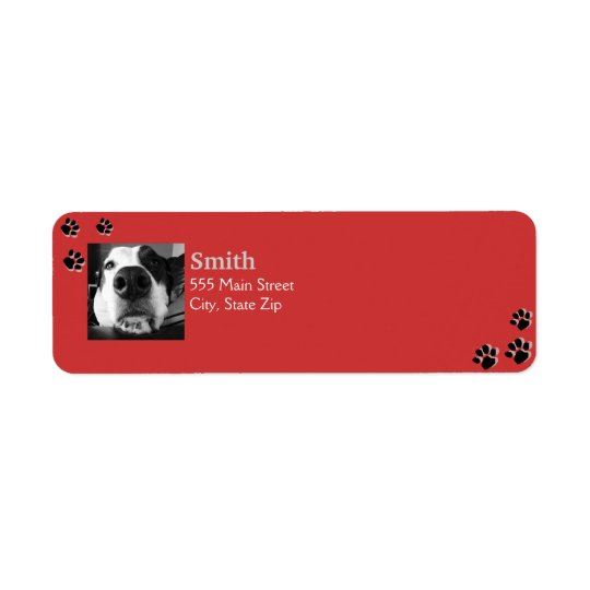 Dog Paw Labels