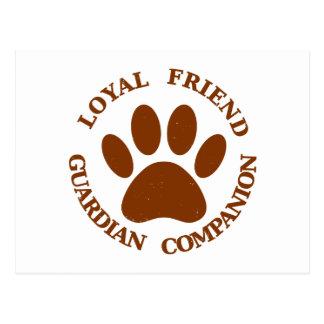 Dog Paw Loyal Friend Postcard