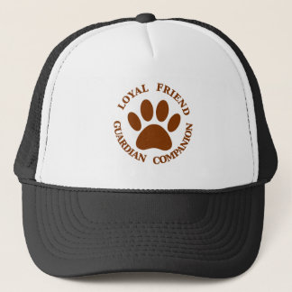 Dog Paw Loyal Friend Trucker Hat