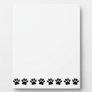 Dog Paw Pattern Plaque