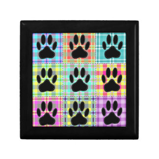 Dog Paw Pattern Quilt Gift Box