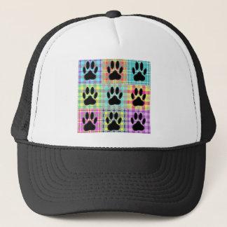 Dog Paw Pattern Quilt Trucker Hat