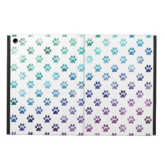 Dog Paw Print Green Blue Purple Rainbow White Case For iPad Air