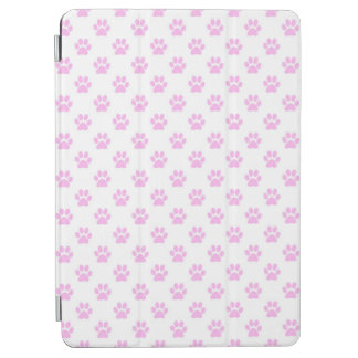 Dog Paw Print Light Pink White Background iPad Air Cover