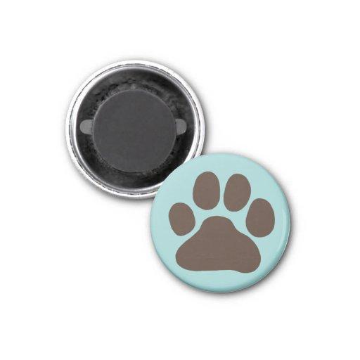 Dog Paw Print Refrigerator Magnet