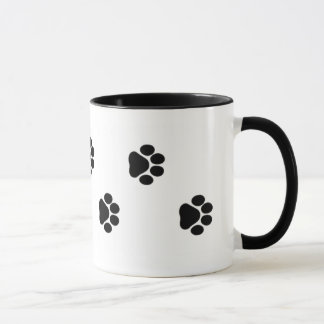 Dog Paw Print Mug 15 oz