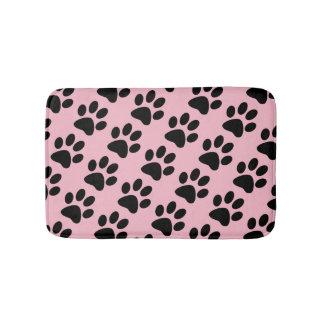 Dog Paw Print Pattern Bath Mat
