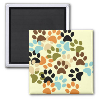 Dog paw print pattern magnet