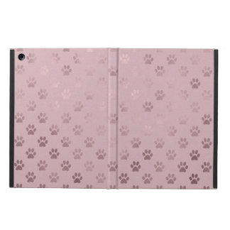 Dog Paw Print Vintage Rose Pink Background iPad Air Case