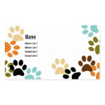 Dog Paw Prints Business Card