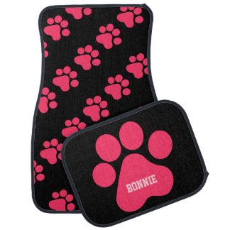 Dog Paw Prints Car Mat