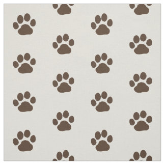 Dog Paw Prints Fabric