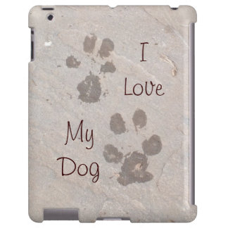 Dog Paw Prints -I Love My Dog iPad case