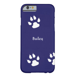 Dog Paw Prints Template Barely There iPhone 6 Case