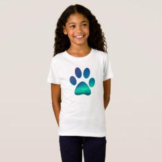 Dog Pawprint Aurora Northern Lights Novelty Tshirt