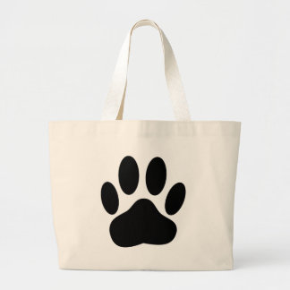Dog Pawprint Large Tote Bag