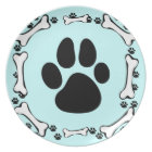 Dog Paws and Dog Bones Plate