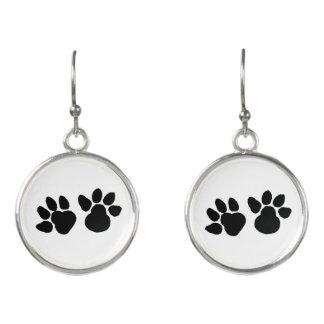 Dog Paws Design Earrings