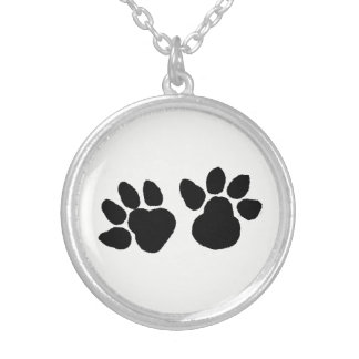 Dog Paws Design Silver Plated Necklace