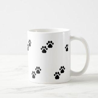 Dog Paws on White Coffee Mug