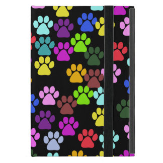 Dog Paws, Trails, Paw-prints - Red Blue Green Cases For iPad Mini