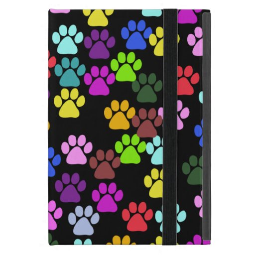 Dog Paws, Trails, Paw-prints - Red Blue Green Cover For iPad Mini