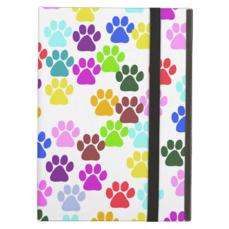 Dog Paws Trails Pawprints Red Blue Green Yellow