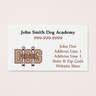 Dog Person Business Cards